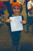emma holding drawing