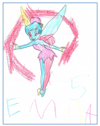 drawing of tinkerbell